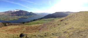 View from Sell Fell towards Bassenthwaite Lake and Skiddaw