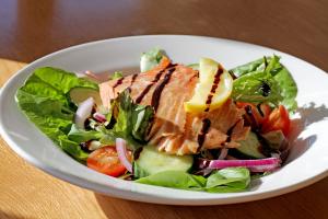 Oak roast salmon salad